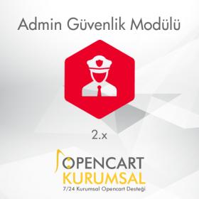 Opencart 2.x Admin Güvenlik Modülü
