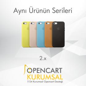 Opencart 2.x Aynı Ürünün Serileri Modülü