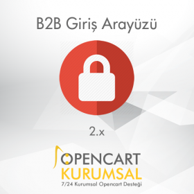 Opencart 2.x B2b Giriş Arayüzü
