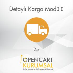Opencart 2.x Detaylı Kargo Modülü