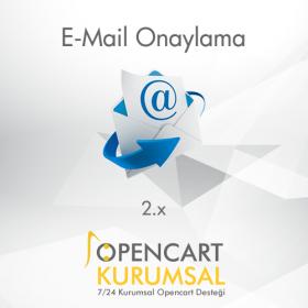 Opencart 2.x E-Mail Onaylama Modülü