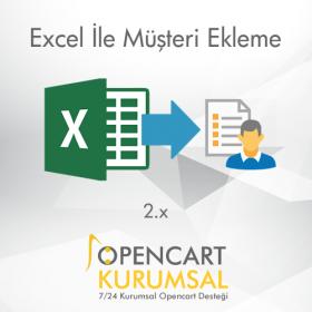 Opencart 2.x Excel İle Müşteri Ekleme Modülü