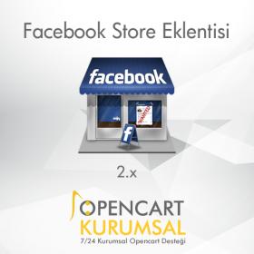 Opencart 2.x Facebook Store Eklentisi