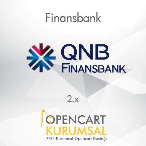 Opencart Finansbank Sanal Pos Entegrasyonu