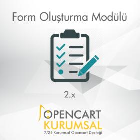 Opencart Form Oluşturma Modülü