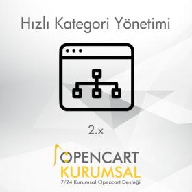 Opencart 2.x Hızlı Kategori Yönetimi