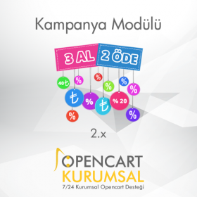 Opencart 2.x Kampanya Modülü