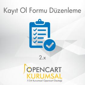 Opencart 2.x Kayıt Ol Formu Düzenleme