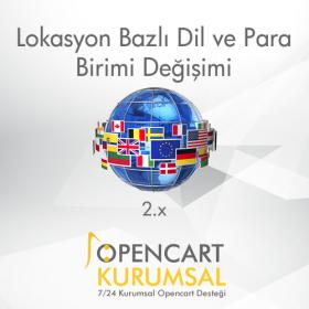 Opencart 2.x Lokasyon Bazlı Dil ve Para Birimi Değiştirme