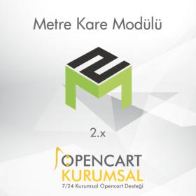Opencart 2.x Metre Kare Modülü
