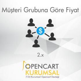 Opencart 2.x Müşteri Gruplarına Özel Fiyat
