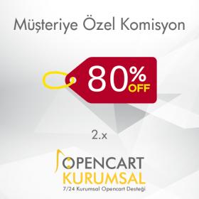 Opencart 2.x Müşteriye Özel Komisyon Tanımlama Eklentisi