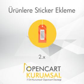 Opencart 2.x Ürünlere Sticker Ekleme