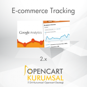 Opencart Google Analytics E-Ticaret Takip Pro 2.x