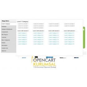 Opencart Mega Menü Modülü (Sol Kategori Modülü)