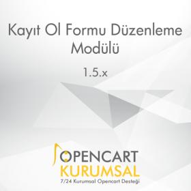 Opencart Kayıt Ol Formu Düzenleme Modülü