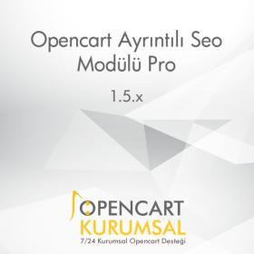 Opencart Ayrıntılı Seo Modülü Pro