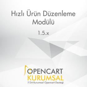 Opencart Hızlı Ürün Düzenleme Modülü