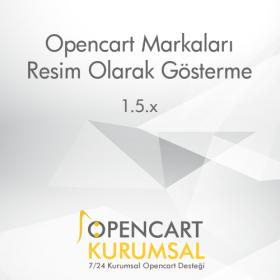Opencart Markaları Resim Olarak Gösterme Eklentisi