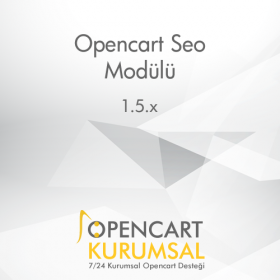 Opencart Detaylı Seo Modülü (Kategori, Ürün, Marka, Ürün-Kategori Meta Kelimeleri ve Meta Taglar)