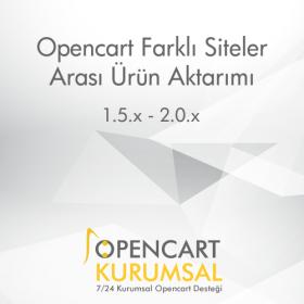 Opencart Farklı Siteler Arası Ürün Aktarımı