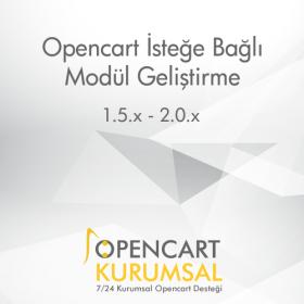 Opencart İsteğe Bağlı Modül Geliştirme