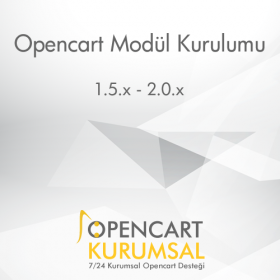 Opencart Ücretsiz Modül Kurulumu