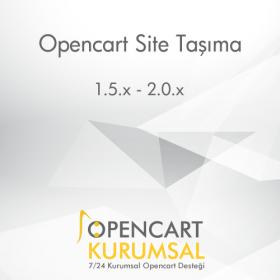Opencart Site Taşıma - Farklı Sunucular Arası Taşıma