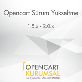 Opencart Sürüm Yükseltme - Upgrade