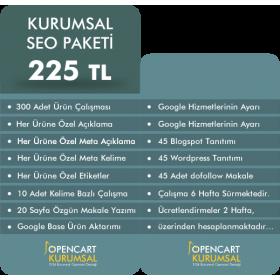 Opencart Kurumsal Seo Paketi