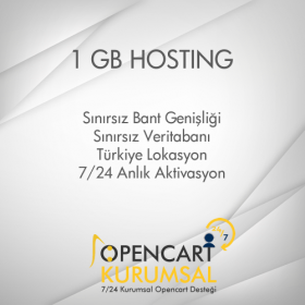 1 GB Opencart Uyumlu Hosting Paketi