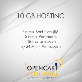 10 GB Opencart Uyumlu Hosting Paketi