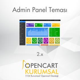 Opencart 2.x Admin Panel Teması
