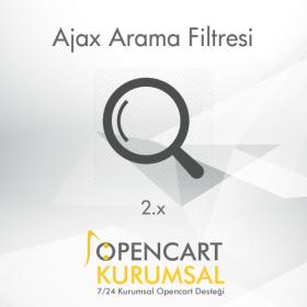 Opencart 2.x Ajax Arama Filtresi