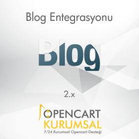 Opencart 2.x Blog Entegrasyonu