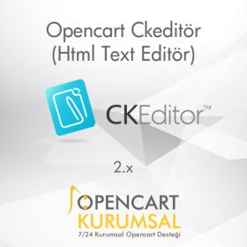 Opencart Ckeditör (Html Yazı Editörü)