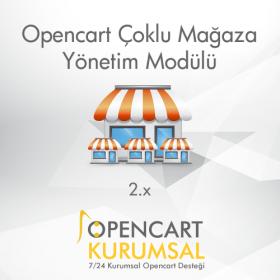 Opencart Çoklu Mağaza Yönetim Modülü
