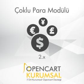Opencart 2.x Çoklu Para Modülü