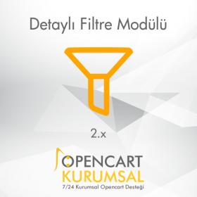 Opencart 2.x Detaylı Filtre Modülü