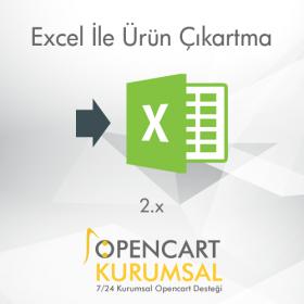 Opencart Excel İle Ürün Çıkartma Modülü