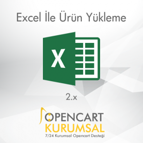 Opencart Excel İle Ürün Yükleme Modülü
