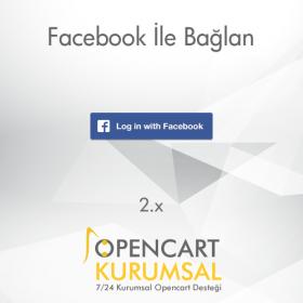 Opencart 2.x Facebook İle Bağlan Eklentisi