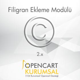 Opencart 2.x Filigran Ekleme Modülü