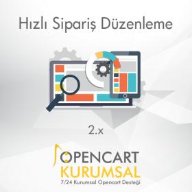 Opencart Hızlı Sipariş Düzenleme Modülü