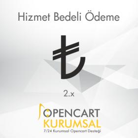 Opencart 2.x Hizmet Bedeli Ödeme Eklentisi