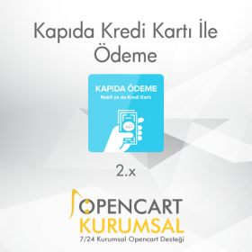 Opencart Kapıda Kredi Kartı İle Ödeme Modülü