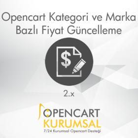 Opencart Kategori ve Marka Bazlı Fiyat Güncelleme Modülü