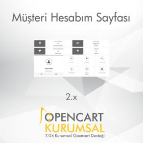 Opencart 2.x Müşteri Hesabım Sayfası