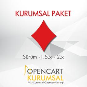 Kurumsal Firmalara Yönelik E-Ticaret Paketi Opencart (Domain + Hosting)