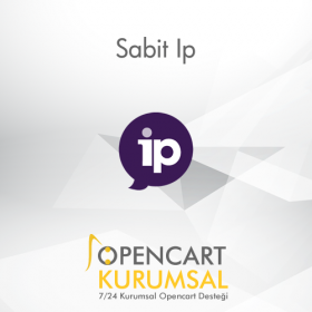 Opencart Sabit Ip